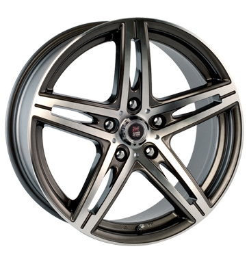 tire - 8x18 5x112 ET30 24H du Mans Arnage grau / anthrazit gun metal machined face High quality dampers Rims / Alu Opel ALCOA tools