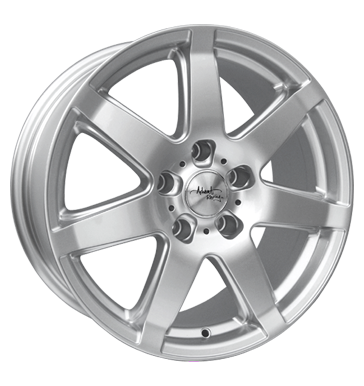 tire - 7x16 5x108 ET48 Advanti Racing Flake SF03 silber silber lackiert Renault Rims / Alu Scooter Truck Full Year car