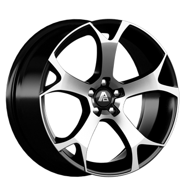 tire - 8x18 5x108 ET27 Aluminum Design Ghost schwarz diamond-black Sport exhausts Rims / Alu Thermo Shirts / Shirts WHEELS car