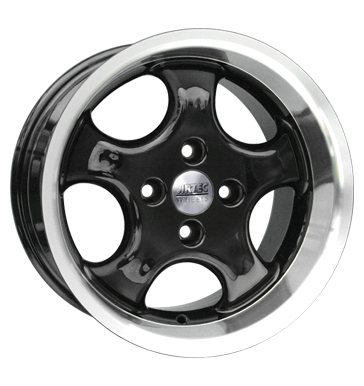 tire - 7x15 4x98 ET25 Artec AD Cup schwarz schwarz Horn poliert Valve tools Rims / Alu Light truck Winter from 17.5