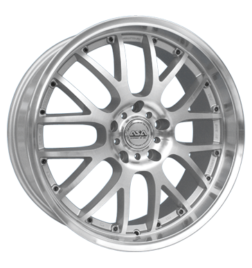 tire - 8.5x19 5x120 ET40 ASA AR 1 silber frontpoliert UNION Rims / Alu Sport air filters Car care + Maintenance wholesaler