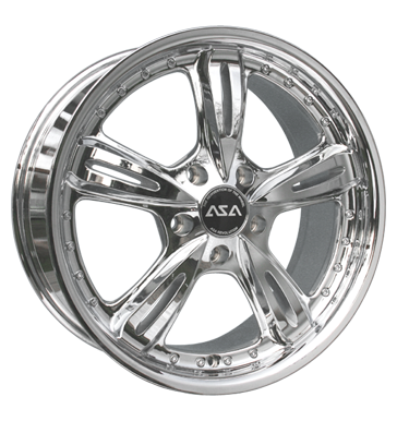 tire - 8x18 5x114.3 ET35 ASA AR 4 chrom chrom Car electric Rims / Alu Truck Summer Discover now! Oil