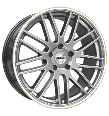 tire - 8.5x19 5x120 ET37 ASA GT 1 silber shiny silber mit weißem Ring FOSAB Rims / Alu Offroad Full Year Truck Winter from 17.5