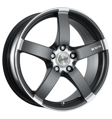 tire - 7x17 4x100 ET37 Avus Falcon grau / anthrazit anthracite matt polished Other (trolley, carriage, small tyres) Rims / Alu Tomason Renault steel rim