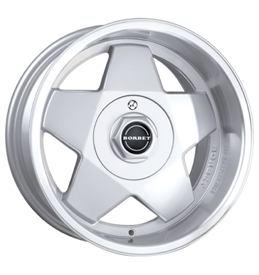 tire - 7.5x16 5x112 ET20 Borbet A silber silver polished Motor sports Rims / Alu weekly Renault wheels