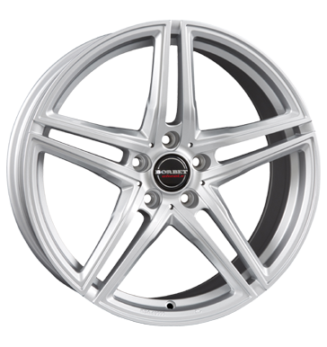 tire - 8x17 5x108 ET45 Borbet XRT silber brillant silver ALCOA Rims / Alu Non-freeze liquid Truck Full Year wheels