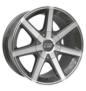tire - 8.5x19 6x139.7 ET22 Borbet CWE grau / anthrazit mistral anthracite polished Trailer Rims / Alu Steel wheels Mounting frames + radio masks utilities