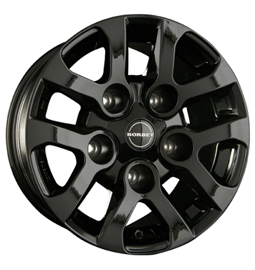 tire - 8x16 5x165.1 ET5 Borbet LD schwarz black glossy REPLIKA Rims / Alu Motorbike Lighting tyres