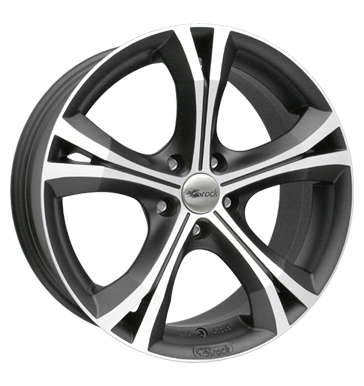 tire - 8x19 5x110 ET35 Brock B22 schwarz shadowblack matt poliert Wheel care Rims / Alu WIECHERS SPORT Motorhome + Caravan parts praudh