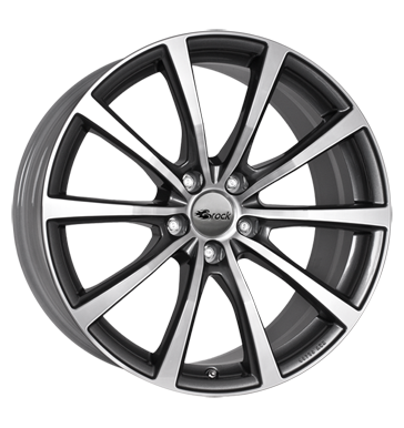 tire - 8.5x20 5x115 ET41 Brock B32 grau / anthrazit himalaya grey vollpoliert Offroad summer from 17.5