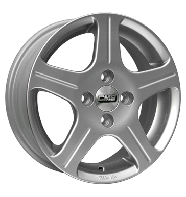 tire - 5.5x14 4x98 ET35 CMS C7 silber silber lackiert ENZO Rims / Alu Track extension GMP Italia utilities