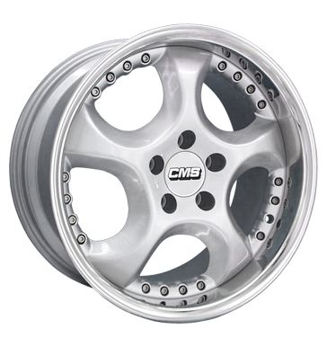 tire - 8x18 5x112 ET38 CMS CX 2tlg. silber hochglanz poliert WHEELS Rims / Alu Test category 1 Offroad Winter from 17.5