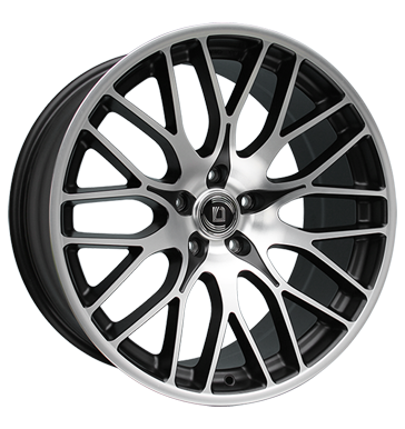 tire - 10x22 5x108 ET35 Diewe Wheels Fina schwarz black machined Windshield cleaning Rims / Alu HAMANN Offroad Winter from 17.5