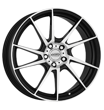tire - 7x16 5x112 ET48 Dotz Kendo schwarz black polished Light truck summer from 17.5