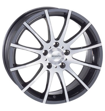 tire - 7.5x17 5x120 ET20 Ecanto E-110 schwarz black polished Alessio Rims / Alu Export Schnittst Steel wheels utilities