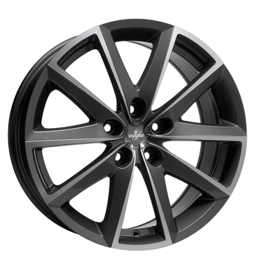 tire - 7x16 5x100 ET35 Fondmetal 7600 grau / anthrazit Titanium poliert TOORA Rims / Alu Artec CARLSSON car parts