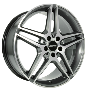 tire - 7.5x17 5x112 ET35 GMP Mythos grau / anthrazit anthracite diamond Mitsubishi Rims / Alu Motorcycle Racing accessories tyre