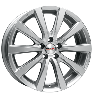 tire - 7.5x18 5x115 ET24 MAK Iguan silber silver WheelWorld Rims / Alu Older than 2 years TFT monitors tires