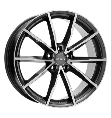 tire - 8x18 5x112 ET39 MAK Ringe grau / anthrazit gun metal - mirror face MANGELS Rims / Alu Axxion Offroad summer car parts