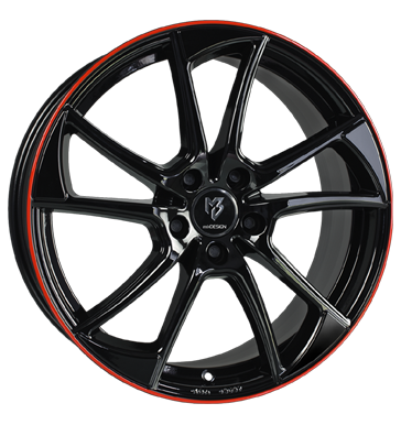 tire - 7.5x19 5x114.3 ET50 mbDESIGN MB1 schwarz glanzschwarz Horn rot lackiert Sealing rings Rims / Alu Storage boxes Sweat shirts utilities