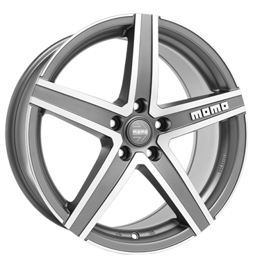 tire - 7x16 5x112 ET45 Momo Hyperstar EVO grau / anthrazit matt anthracite diamond cut High quality dampers Rims / Alu Wheel bolts / nuts Sweat shirts tyre