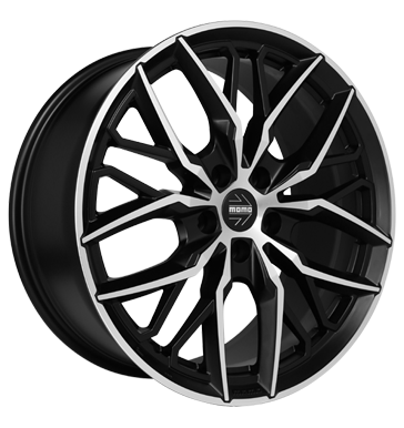 tire - 9.5x19 5x120 ET40 Momo Spider schwarz matt black diamond cut Waistband jackets Rims / Alu OXIGIN Clip-on weights tyre