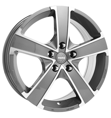 tire - 6.5x16 5x110 ET35 Momo Win Pro EVO grau / anthrazit glossy anthracite diamond cut Colours and varnishes Rims / Alu Specials testjj Warning triangles tools