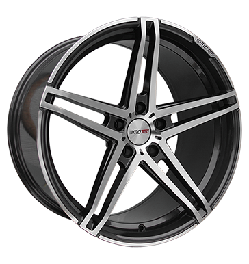 tire - 9.5x19 5x112 ET45 Motec Xtreme grau / anthrazit gun metal poliert Breyton Rims / Alu Soundboards + adapter rings Jumper cables car parts