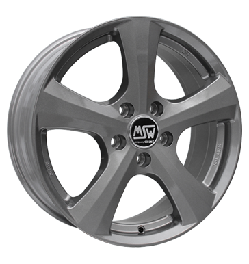 tire - 7x16 5x112 ET48 MSW 19 grau / anthrazit grey silver Light truck summer from 17.5