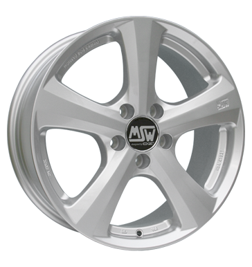 tire - 7x16 5x112 ET48 MSW 19 silber silber allwheather Rims / Alu Chip tuning + Motor tuning Rims praudh