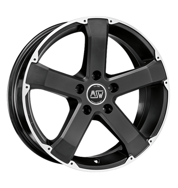 tire - 8x17 5x108 ET45 MSW 45 schwarz schwarz matt poliert Summer total wheels aluminium Rims / Alu Light truck Winter from 17.5