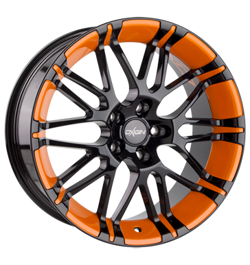 tire - 8.5x18 5x110 ET32 Oxigin 14 Oxrock orange foil orange Design mirrors Rims / Alu HARTGE Employee's car steel rim