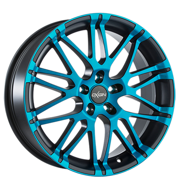tire - 11x20 5x112 ET35 Oxigin 14 Oxrock blau light blue polish matt Cart Rims / Alu Steel wheels HARTGE tools