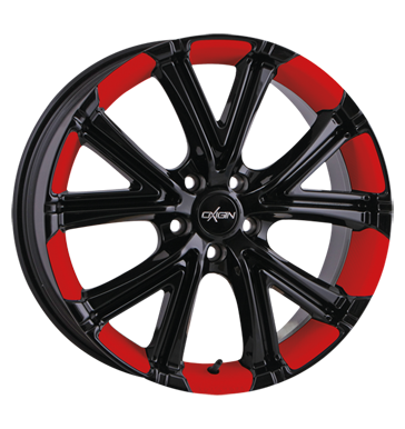 tire - 8x18 5x112 ET35 Oxigin 15 Vtwo rot foil red Felgenbett Südrad Rims / Alu Standard In-car accessories Snow chains steel rim