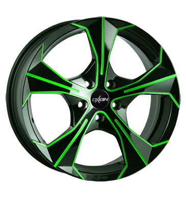 tire - 8x18 5x114.3 ET35 Oxigin 17 Strike grün neon green polish Hose: Bicycle Rims / Alu Bus Full Year Accessories & literature tires