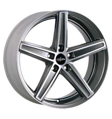 tire - 8.5x18 5x108 ET45 Oxigin 18 Concave grau / anthrazit graphit full polish Warning triangles Rims / Alu moped MB-Italia steel rim