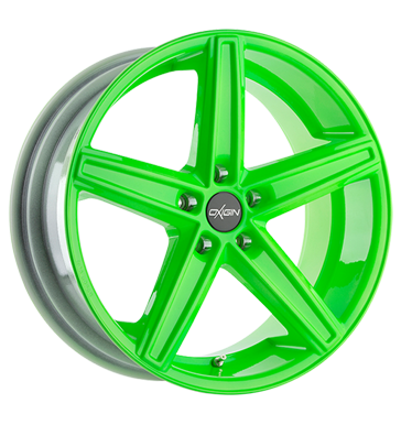 tire - 9x20 5x130 ET43 Oxigin 18 Concave grün neon green MIGLIA Rims / Alu High visibility allwheather steel rim