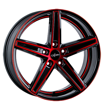 tire - 8.5x18 5x114.3 ET35 Oxigin 18 Concave rot red polish Design lamps + lights Rims / Alu RONDELL Tow bars tire