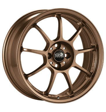 tire - 8x18 5x112 ET48 OZ Alleggerita HLT bronze matt bronze Rial Rims / Alu Scooter Winter complete wheels steel tires