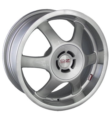 tire - 7x17 4x108 ET16 OZ Optima silber silber Horn poliert Clincher bands: Motorcycle Rims / Alu Hose: AS- Driving wheel hoses ZENDER tyre