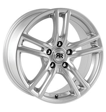 tire - 7x17 4x108 ET25 Racer Wheels Cup silber silver Car tuning + styling Rims / Alu Car body High-visibility vest car parts
