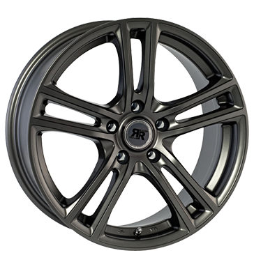 tire - 7x16 4x108 ET15 Racer Wheels Cup grau / anthrazit full gun Sport exhausts Rims / Alu Test category 1 VOLKSWAGEN car parts