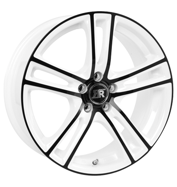 tire - 6.5x15 5x98 ET25 Racer Wheels Cup weiss white machined face black Export Schnittst Rims / Alu Cable + connector Steel wheel tyre
