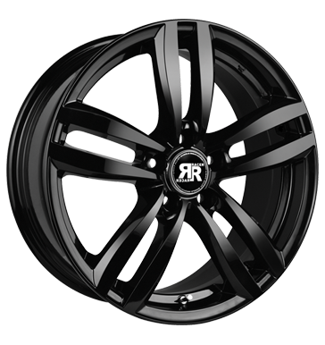 tire - 6x15 4x100 ET40 Racer Wheels Target schwarz black ANZIO Rims / Alu Motor Car body steel rim
