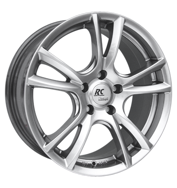 tire - 6.5x15 5x100 ET38 RCDesign RC11 silber chromsilber Renault Rims / Alu Offroad Winter from 17.5