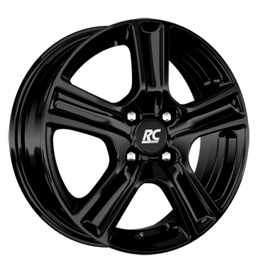 tire - 6.5x16 4x108 ET25 RCDesign RC19 schwarz schwarz glanz Ronal Rims / Alu Customizing & Performance PONGRATZ praudh