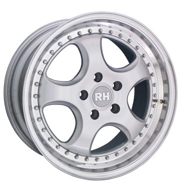tire - 8.5x17 5x112 ET38 RH ZW1 Cup silber silber Horn poliert Complete systems Rims / Alu REPLIKA Centring rings wheels