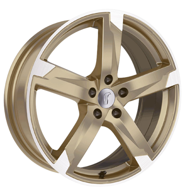 tire - 8x18 5x112 ET35 Rondell 01RZ gold racing gold poliert Thermo Shirts / Shirts Rims / Alu Drive, motor + gearbox Mini and pocket bike parts steel rim