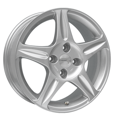 tire - 6x15 4x108 ET48 Rondell 0039 silber silber lackiert Antera Rims / Alu INDIVIDUAL Motor sports tire