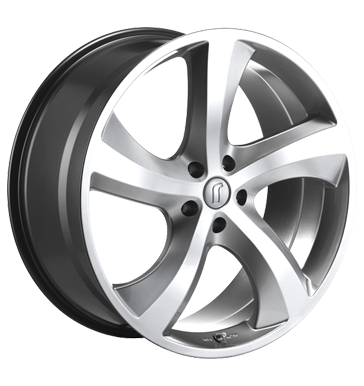 tire - 8.5x19 5x108 ET40 Rondell 0047 silber hyper silver Offroad summer from 17.5